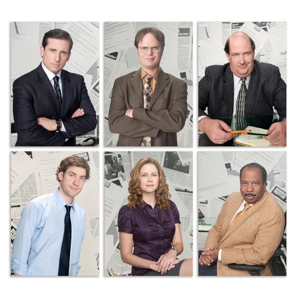 Coleção 6 placas decorativas The office personagens