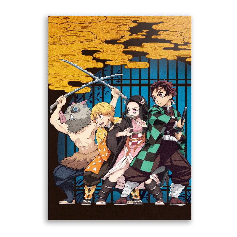 Quadro Kimetsu no Yaiba poster quarteto