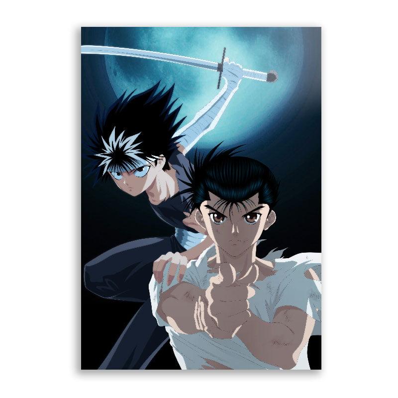 Quadro Yusuke e Hiei Yu Yu Hakusho