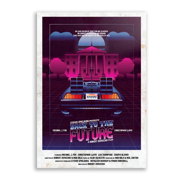 Quadro de volta para o futuro