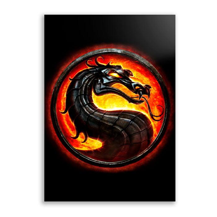 Quadro Mortal kombat Logo