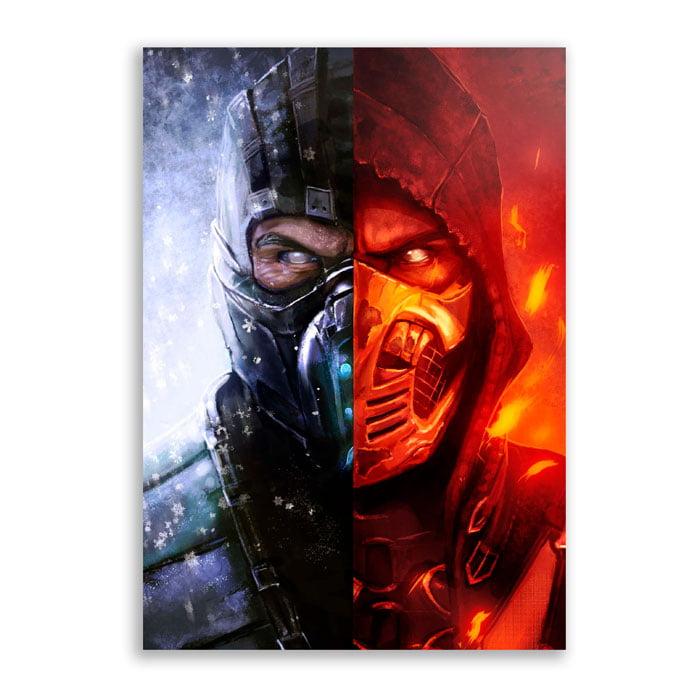 Quadro Mortal kombat Sub Scorpion