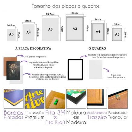 Quadro ou Placa Decorativa Luspusmeras CDPA