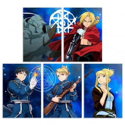 Coleção 5 placas decorativas Fullmetal alchemist