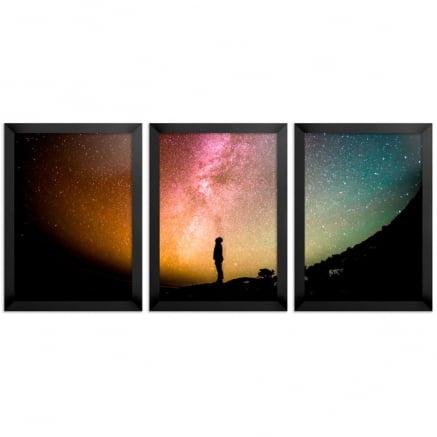 Mosaico 3 peças constelações