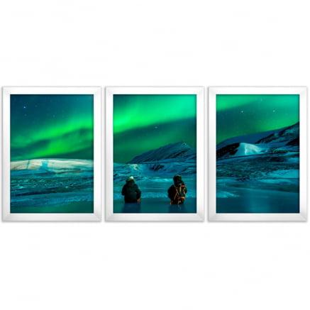 mosaico 3 peças Aurora Boreal
