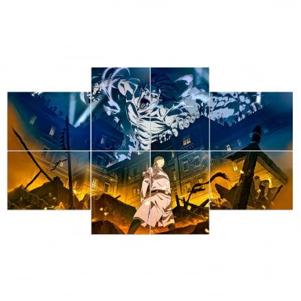 Quadro mosaico atack on titan Season 4 8 peças
