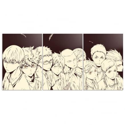 Quadro Trio Haikyuu Karasuno