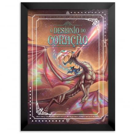 Quadro ou Placa Decorativa o designo do coração dragão CDPA