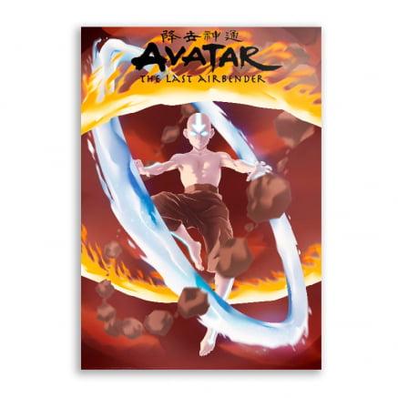 Quadro Avatar Aang Elementos