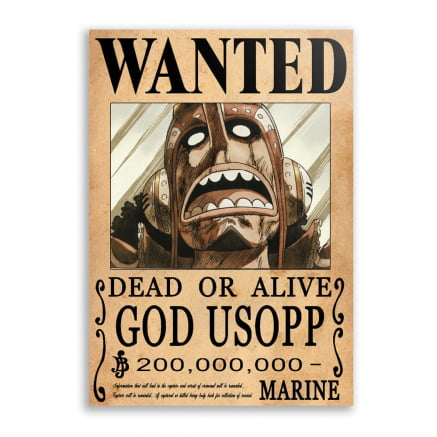 Quadro one piece procurado God Usopp