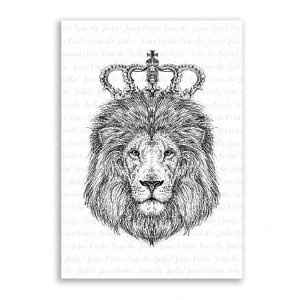 Quadro Leão de judá branco