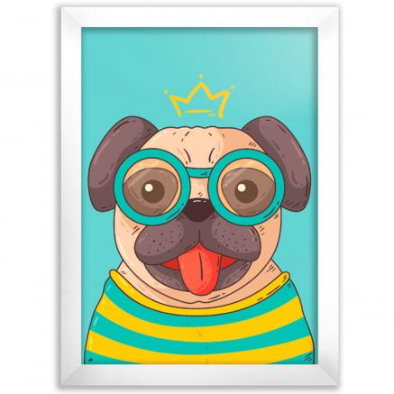 Quadro Pug de óculos