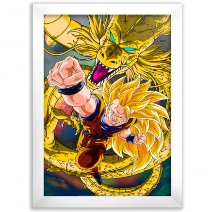 Quadro Decorativo Dragon Ball goku ssj3