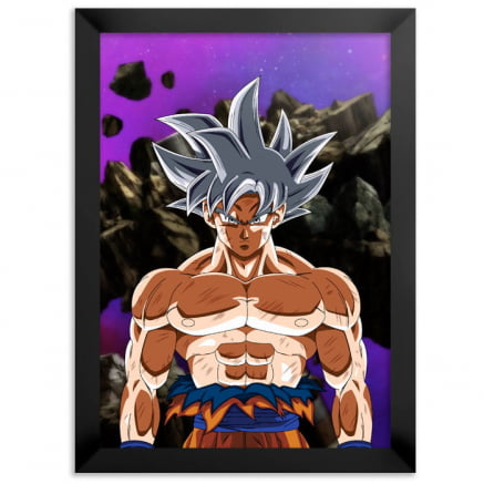 Quadro dragon ball super goku instinto superior