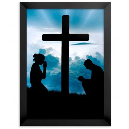 Quadro Casal cristão