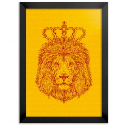 Quadro Leão de judá amarelo